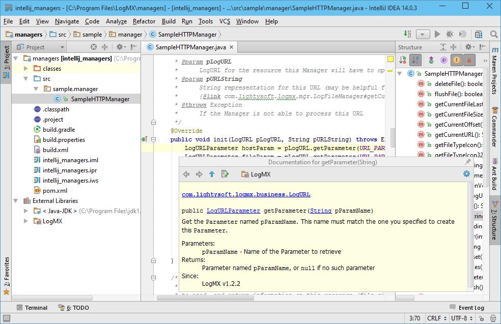 LogMX Manager Development