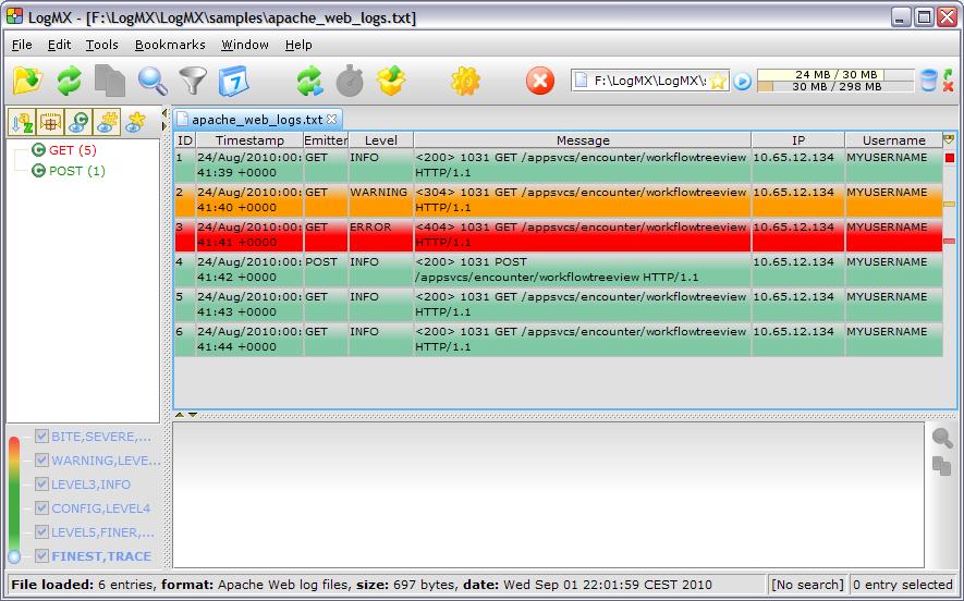Reading Apache web logs - LogMX forum